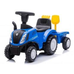 Jeździk traktor z przyczepą New Holland niebieski