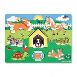 Drewniana układanka – Zwierzęta domowe