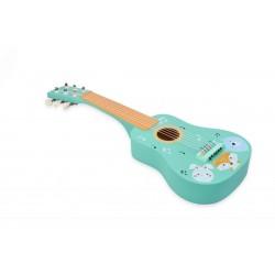 Gitara drewniana zwierzaki