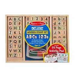 Stempelki ABC-123 duży zestaw