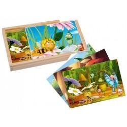 Maja puzzle kolorowe 4x12el.
