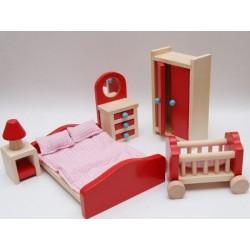 Mebelki do sypialni - wyposażenie domków dla lalek