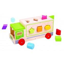 Sorter kolorów i kształtów - drewniana Ciężarówka