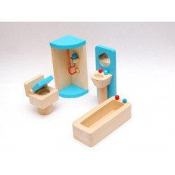 Mebelki do łazienki - wyposażenie domków dla lalek
