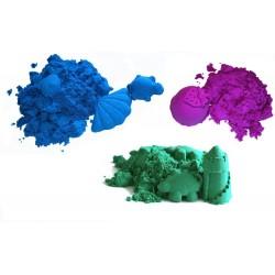 Piasek kinetyczny 3 kg kolorowy z foremkami - polski piasek