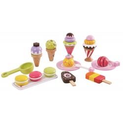 Lody - zestaw lodów 25 sztuk - zabawka drewniana