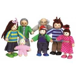 Lalki do domku dla lalek - rodzinka