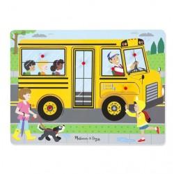 Puzzle dźwiękowe - Autobus szkolny