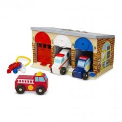 Garaż z kluczykami i pojazdami specjalnymi