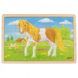 Puzzle drewniane konik pony