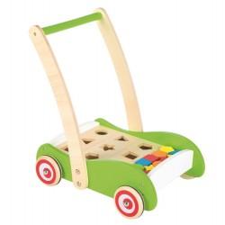 Drewniany wózek geometryczny i sorter